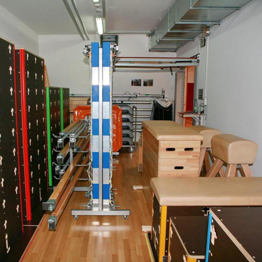 Geräteraum und Sportgeräte