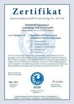 BFGW-Zertifikat für Inspektion und Wartung von Spielplätzen und Freizeitanlagen