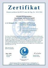 BFGW-Zertifikat für Inspektion und Wartung künstlicher Kletteranlagen